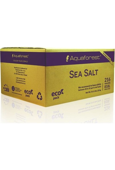 Aqua Forest Sea Salt Box 25Kg