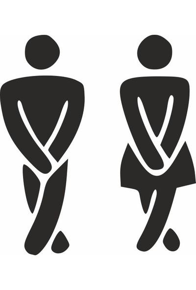 Ejoya Tuvalet Erkek ve Bayan Banyo Sticker 78983