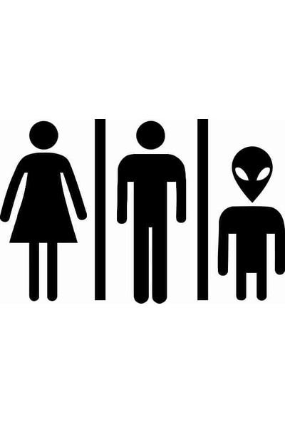 Ejoya Uzaylı Aile Banyo Sticker 78988