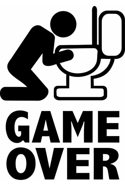 Ejoya Tuvalet Game Over Sticker 79007
