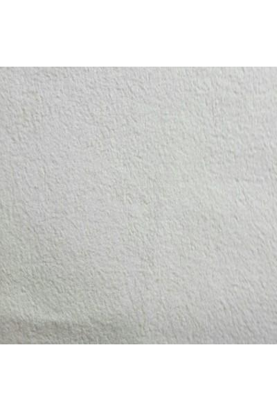 ByOzras Süet Dokulu Kumaş ( Kenarı Atmayan ) En 140 cm / Beyaz
