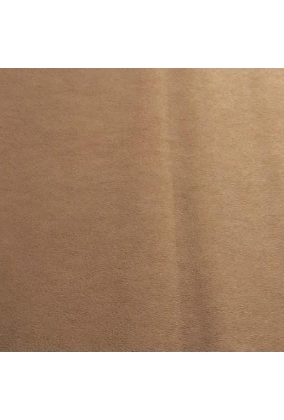 ByOzras Süet Dokulu Kumaş ( Kenarı Atmayan ) En 140 cm / Vizon