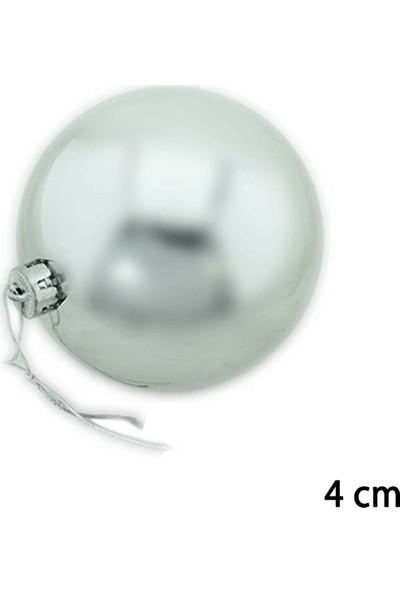 Can Yeni Yıl 12li Cici Top Yılbaşı Ağacı Süsü 4cm Gümüş