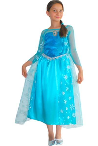 Party Shop Frozen Buzlar Prensesi Elsa Kostümü Lüks 2-3 Yaş