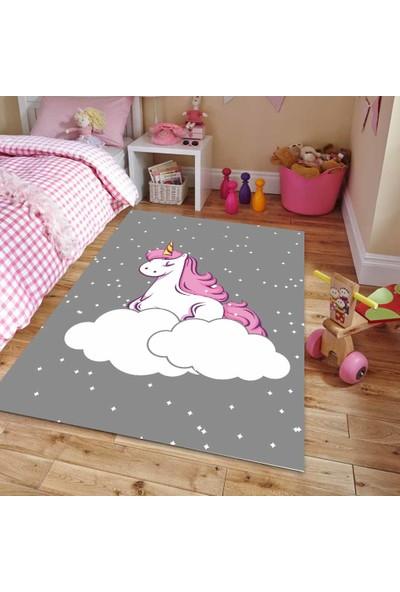 Umy Gri Zemin Unicorn Çocuk Halısı