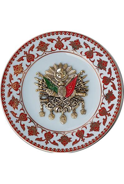Armada Çini PRT 1 25 cm Osmanlı armalı porselen çini desenli tabak