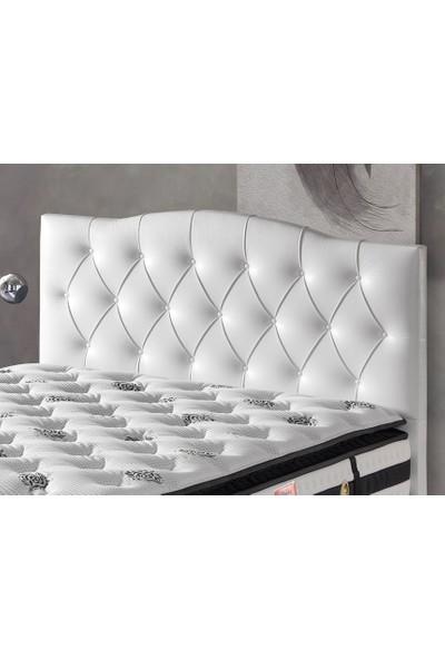 Belletto Çift Kişilik Duru Lüx Deri Başlık Beyaz 160 cm
