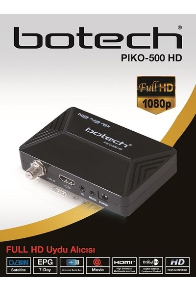 Botech Piko-500 Hd Plus Uydu Alıcı