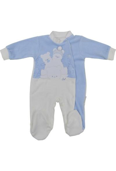 Babybal Baby Kadife Bebek Tulumu 2033
