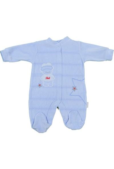 Babybal Baby Kadife Bebek Tulumu 2028
