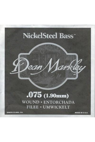 Dean Markley Nickel Steel Bass .075 Bas Gitar Tek Tel