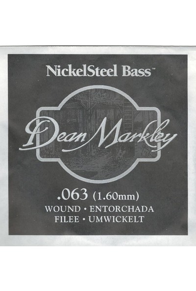 Dean Markley Nickel Steel Bass .063 Bas Gitar Tek Tel