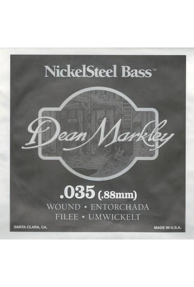 Dean Markley Nickel Steel Bass .035 Bas Gitar Tek Tel