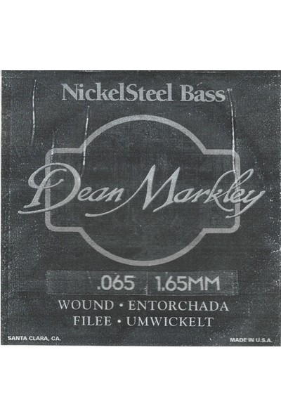 Dean Markley Nickel Steel Bass .065 Bas Gitar Tek Tel