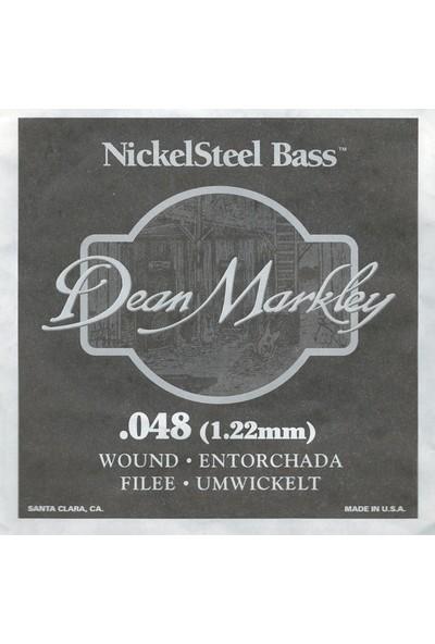 Dean Markley Nickel Steel Bass .048 Bas Gitar Tek Tel