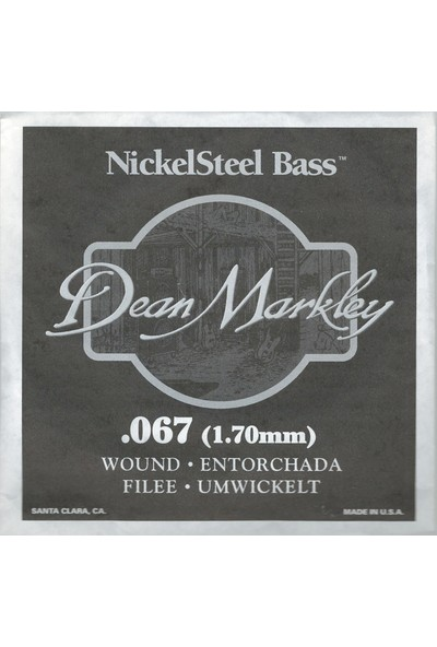 Dean Markley Nickel Steel Bass .067 Bas Gitar Tek Tel
