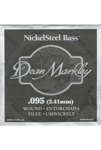 Dean Markley Nickel Steel Bass .095 Bas Gitar Tek Tel