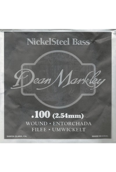 Dean Markley Nickel Steel Bass .100 Bas Gitar Tek Tel