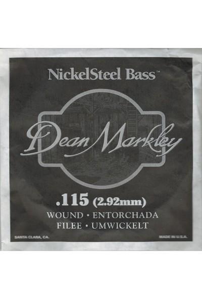 Dean Markley Nickel Steel Bass .115 Bas Gitar Tek Tel