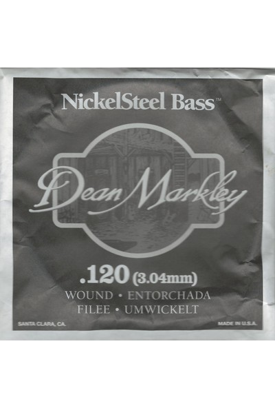 Dean Markley Nickel Steel Bass .120 Bas Gitar Tek Tel