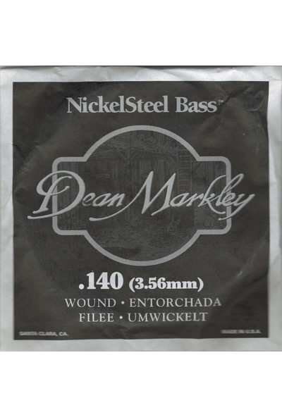 Dean Markley Nickel Steel Bass .140 Bas Gitar Tek Tel