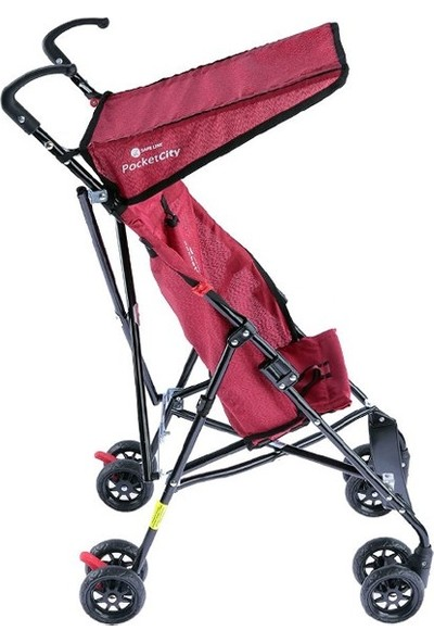 Safeline Pocket City Baston Bebek Arabası Kırmızı