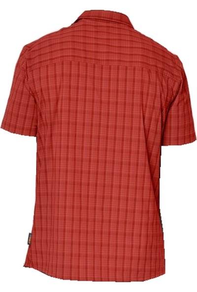 Jack Wolfskin Rays Stretch Red Checks Erkek Outdoor Gömlek
