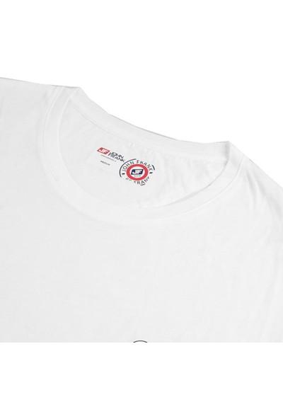 John Frank Marın Erkek Beyaz T-Shirt