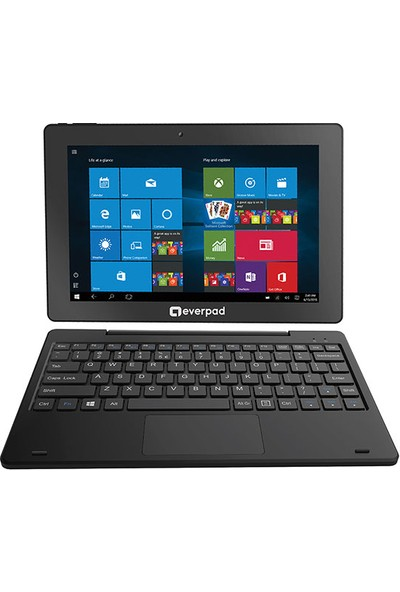 "Everest Everpad DC-1101 32GB 10.1"" Klavyeli Tablet Siyah"