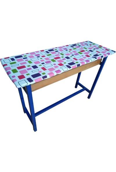 hepenuygun Lastikli Sıra Örtüsü - Pembe Mozaik Desen (110 x 40 cm)