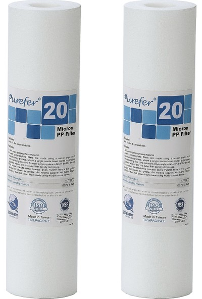 Global Water Solutions Kum ve Tortu Filtresi / 20 Mikron (2 Adet)