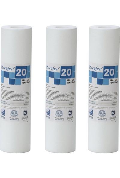 Global Water Solutions Kum ve Tortu Filtresi / 20 Mikron (3 Adet)