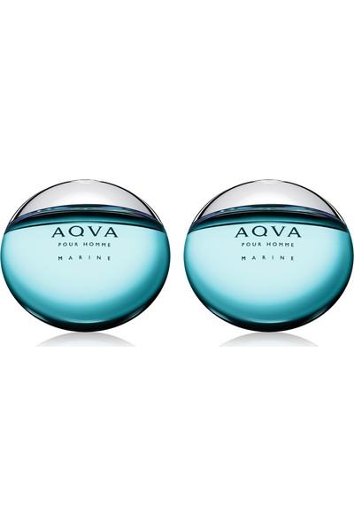 Bvlgari Aqva Marine EDT 100 ml Erkek Parfümü + Bvlgari Aqva Marine EDT 100 ml Erkek Parfümü Set