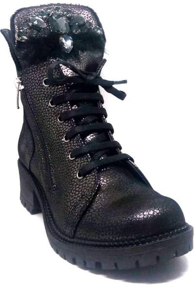 Shop And Shoes 214-807 Kadın Bot Platin Sim