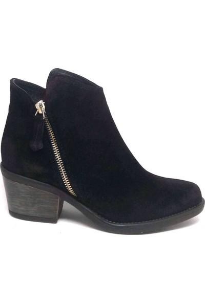 Shop And Shoes 007-1032342 Kadın Bot Siyah Süet