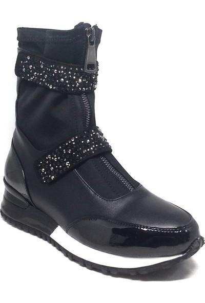 Shop And Shoes 015-SCR-225 Kadın Bot Siyah