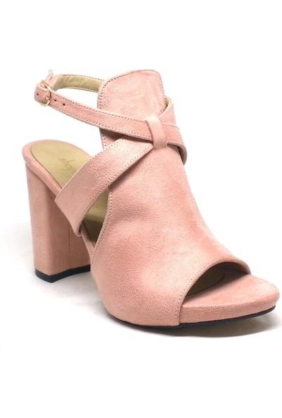 Shop And Shoes 027-18143 Kadın Ayakkabı Pudra Süet