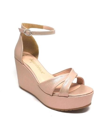 Shop And Shoes 031-1404 Kadın Ayakkabı Pudra