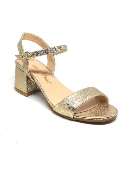 Shop And Shoes 031-1503 Kadın Ayakkabı Altın