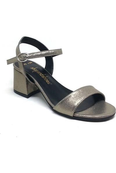 Shop And Shoes 031-1503 Kadın Ayakkabı Platin