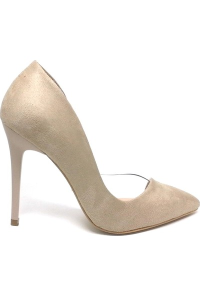 Shop And Shoes 100-1964 Kadın Stiletto Ten Süet