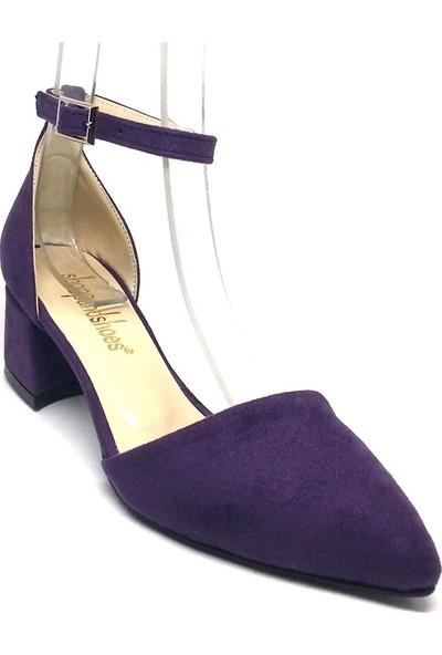 Shop And Shoes 155-701 Kadın Ayakkabı Mor Süet