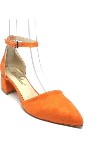 Shop And Shoes 155-701 Kadın Ayakkabı Turuncu Süet