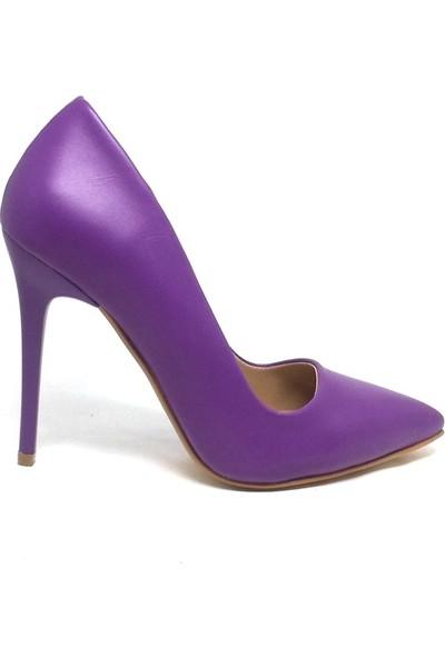 Shop And Shoes 164-2005 Kadın Stiletto Mor