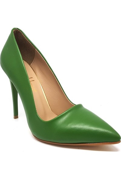 Shop And Shoes 164-2005 Kadın Stiletto Yeşil