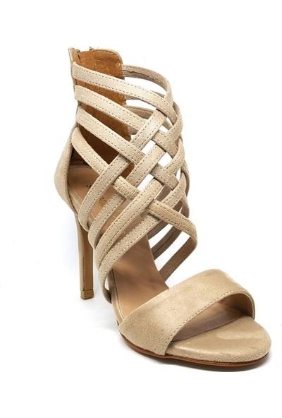 Shop And Shoes 173-2236 Kadın Ayakkabı Bej Süet