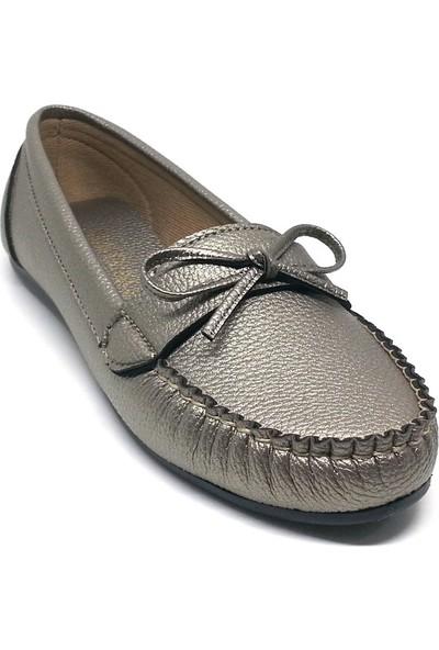 Shop And Shoes 173-50 Kadın Babet Platin