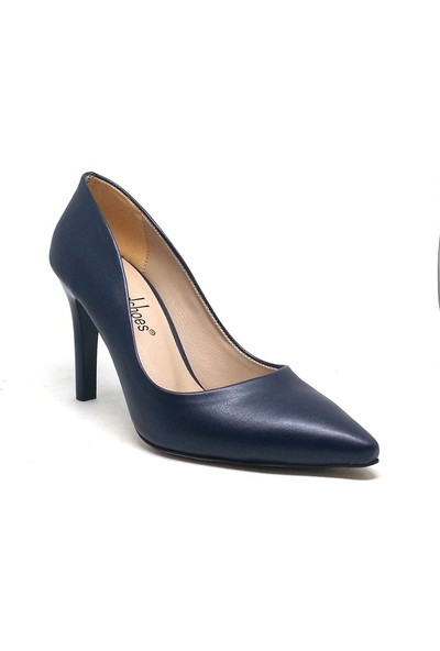 Shop And Shoes 194-150785 Kadın Stiletto Lacivert