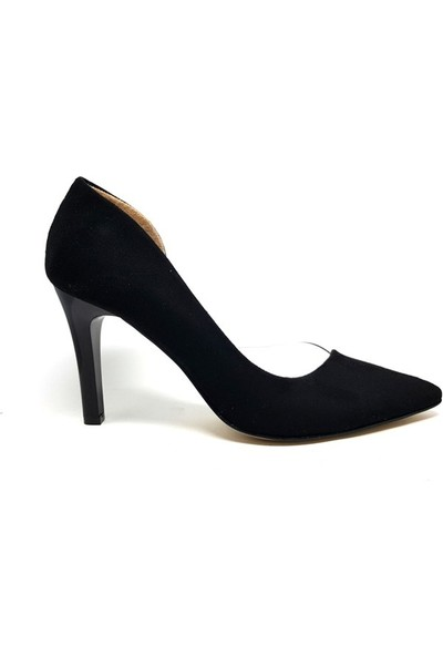 Shop And Shoes 194-85 Kadın Stiletto Siyah Süet
