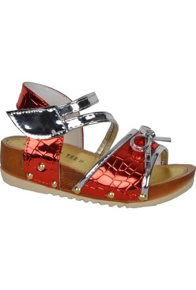 Cansu 2010 Cırtlı Yazlık Rahat Günlük Kız Çocuk Sandalet Ayakkabı